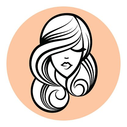 416x416 Woman Silhouette, Women's Face Abstract Design Concept Premium