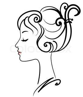 274x320 Beautiful Girl Face Vector Illustration Stock Vector