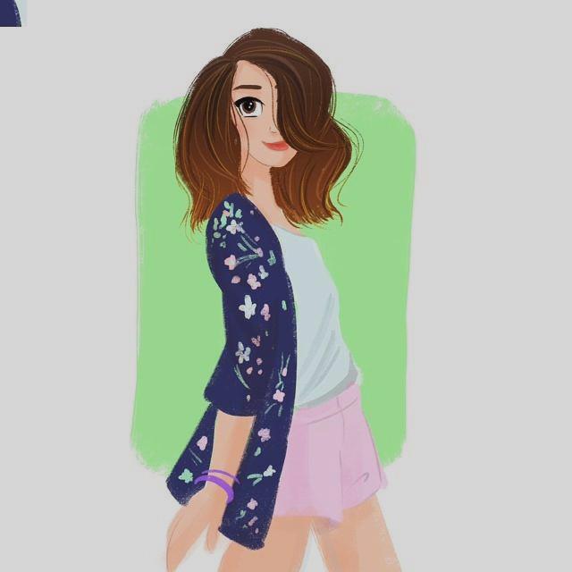 640x640 Clip Art Girl Face Drawing Tumblr