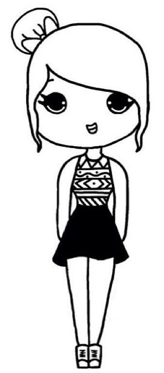 338x768 Easy Drawings Of Girls