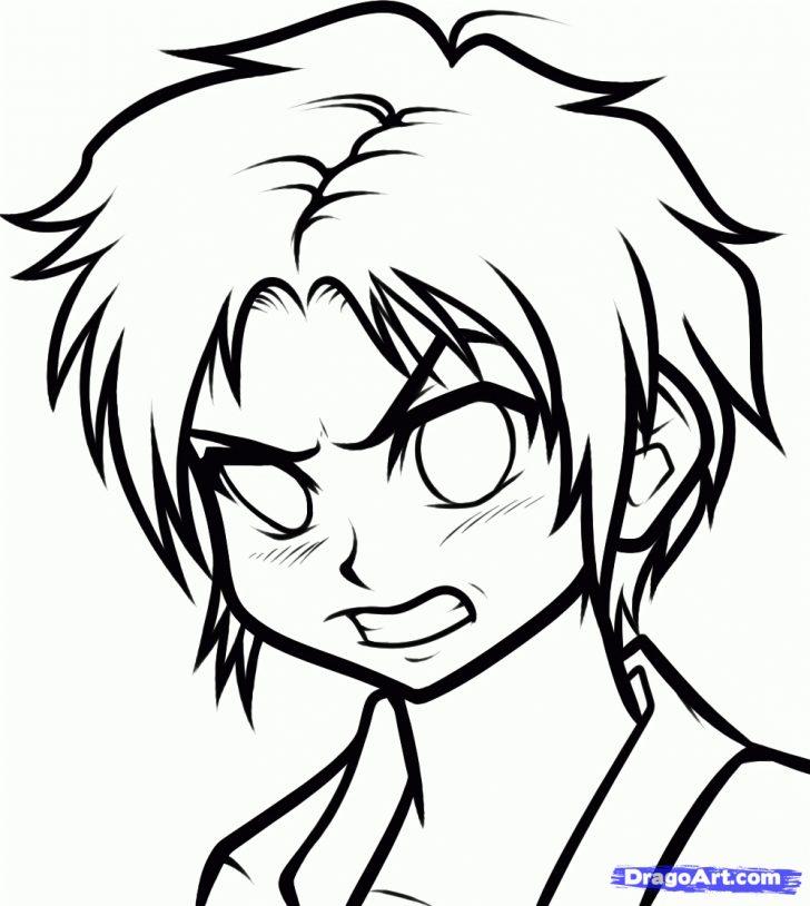 728x814 Sad Anime Face Drawing Chibi Template Girl Tutorial Boy Step