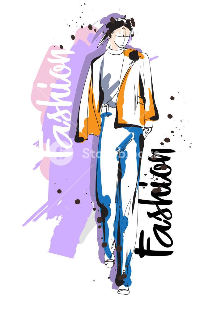 673x1000 fashion girl sketch fashion illustration drawing fashion model