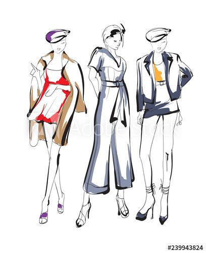 408x500 fashion girls sketch fashion illustration drawing fashion models