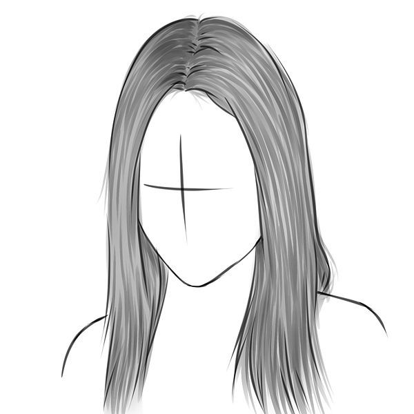 Girl Hair Drawing
