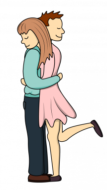 Girl Hugging Boy Drawing Free Download On Clipartmag