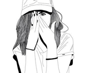 Girl In Rain Drawing