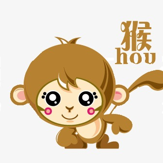 336x336 cute cartoon monkey, monkey, cartoon animals, cute cartoon png