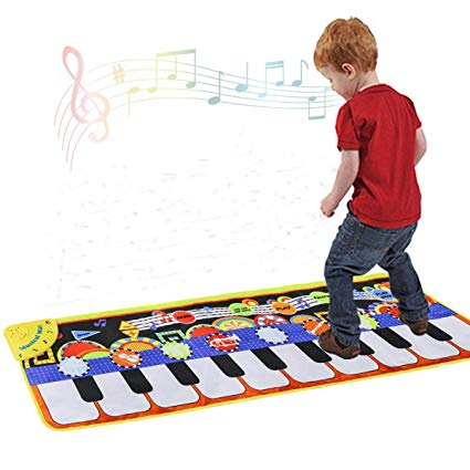 425x425 Cyiecw Piano Music Mat, Keyboard Play Mat Music Dance