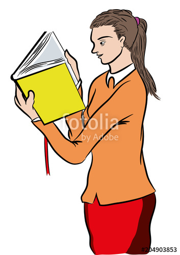 353x500 girl reading a bestseller book standing girl reading a book