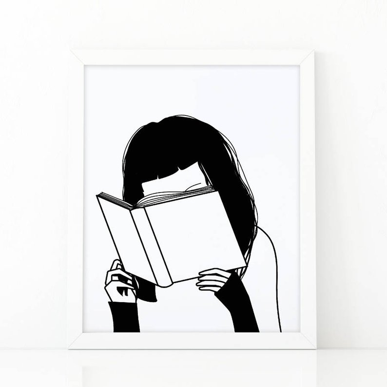 794x794 girl reading book book lover reading is cool girl reading etsy