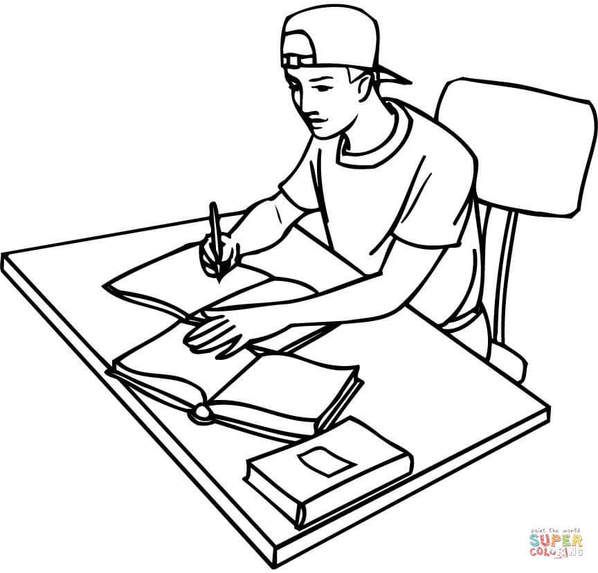 Girl Sitting Drawing