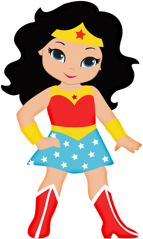 Girl Superhero Drawing