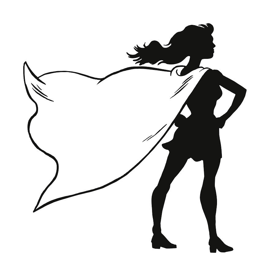 881x900 Female Superhero Wearing A Cape