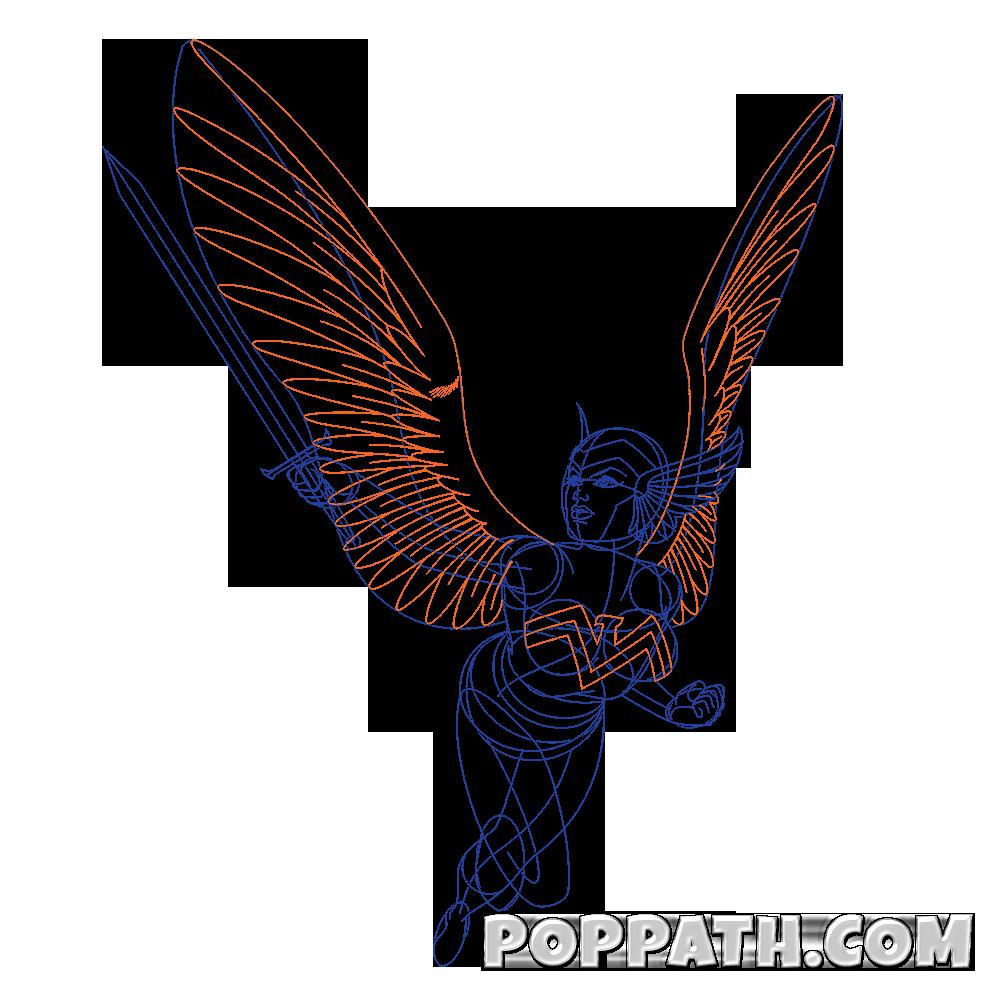 1000x1000 How To Draw An Eagle Girl Superhero Pop Path