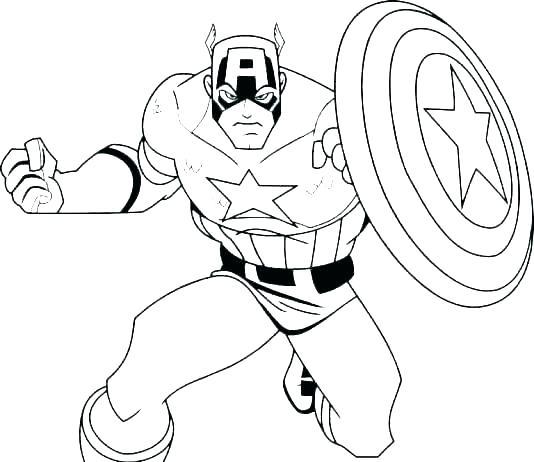 534x462 Superhero Color Pages
