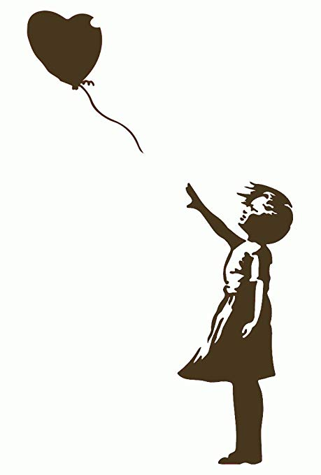 459x679 Banksy Girl With Red Balloon Wall Sticker Kitchen