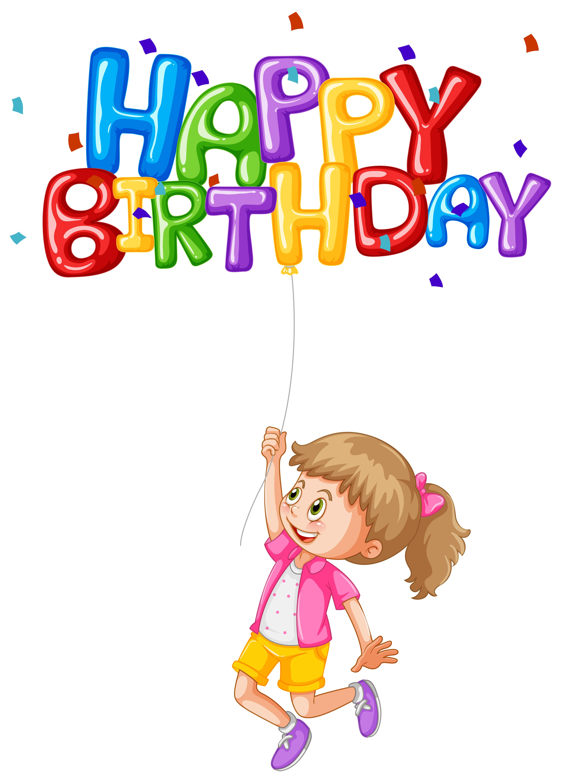 3968x5545 Happy Girl Holding Balloon For Birthday