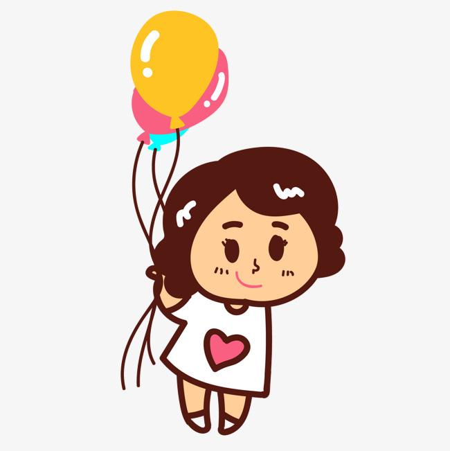650x651 Little Girl Holding Balloon Image