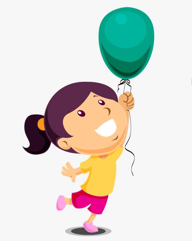 650x814 Play The Balloon Little Girl, Balloon Clipart, Cartoon, Balloon