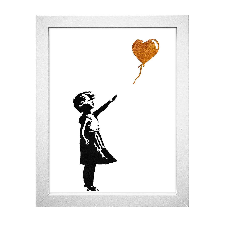 1500x1500 Inspirational Home Wall Art Decor Balloon Girl Mural