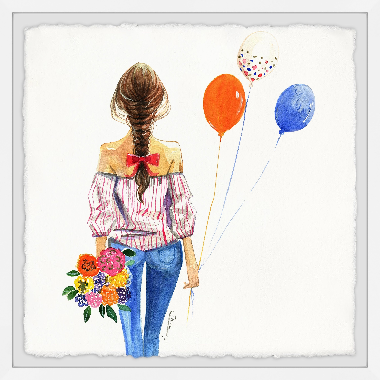 3000x3000 Shop 'balloon Girl' Framed Painting Print