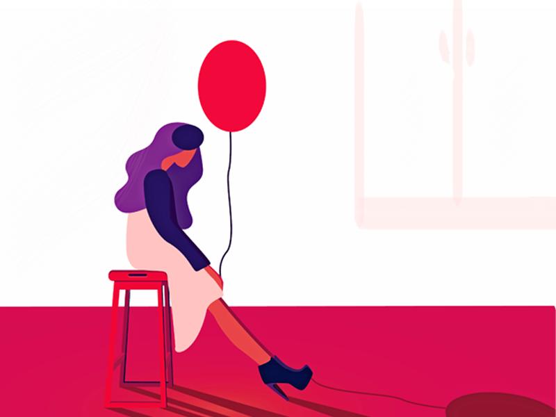 800x600 Girl With Balloon