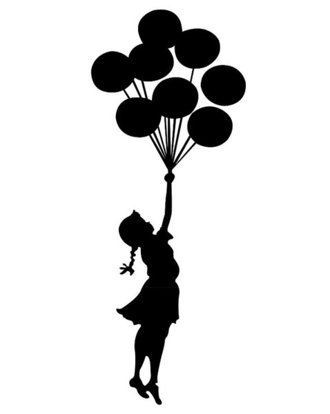 478x600 Balloon Girl Digital Art