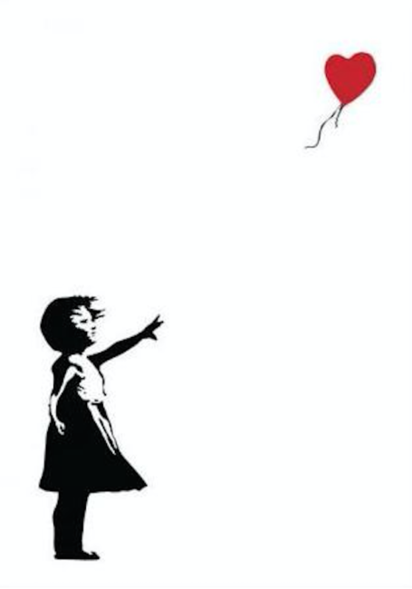 455x650 Banksy's Girl With A Balloon