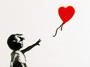 311x233 Banksy 'girl And Balloon' Canvas Smashes Auction Estimate London