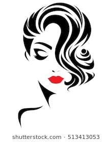 220x280 Girl With Curly Hair Vector Image Vectorportal
