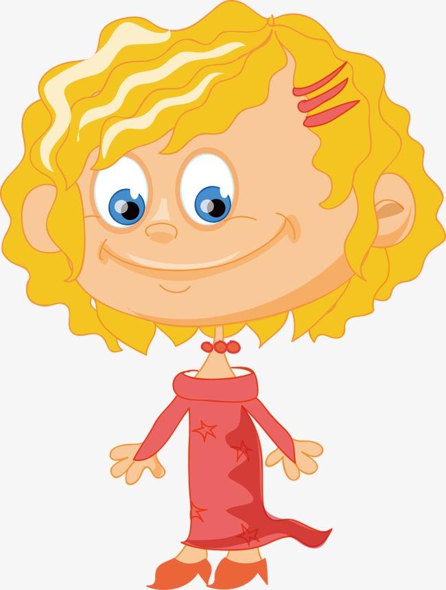 650x861 Vector Little Girl With Curly Hair, Girl Vector, Hair Vector
