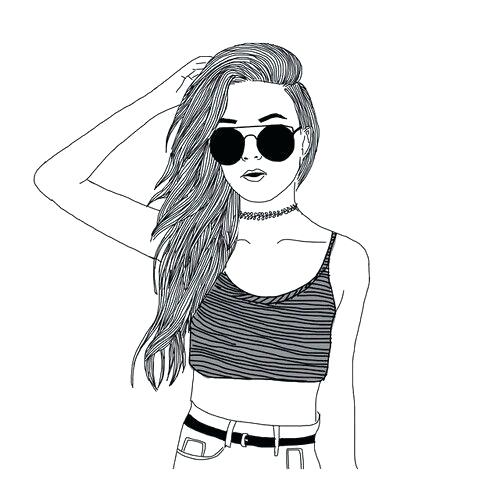 499x491 Drawing Of A Girl