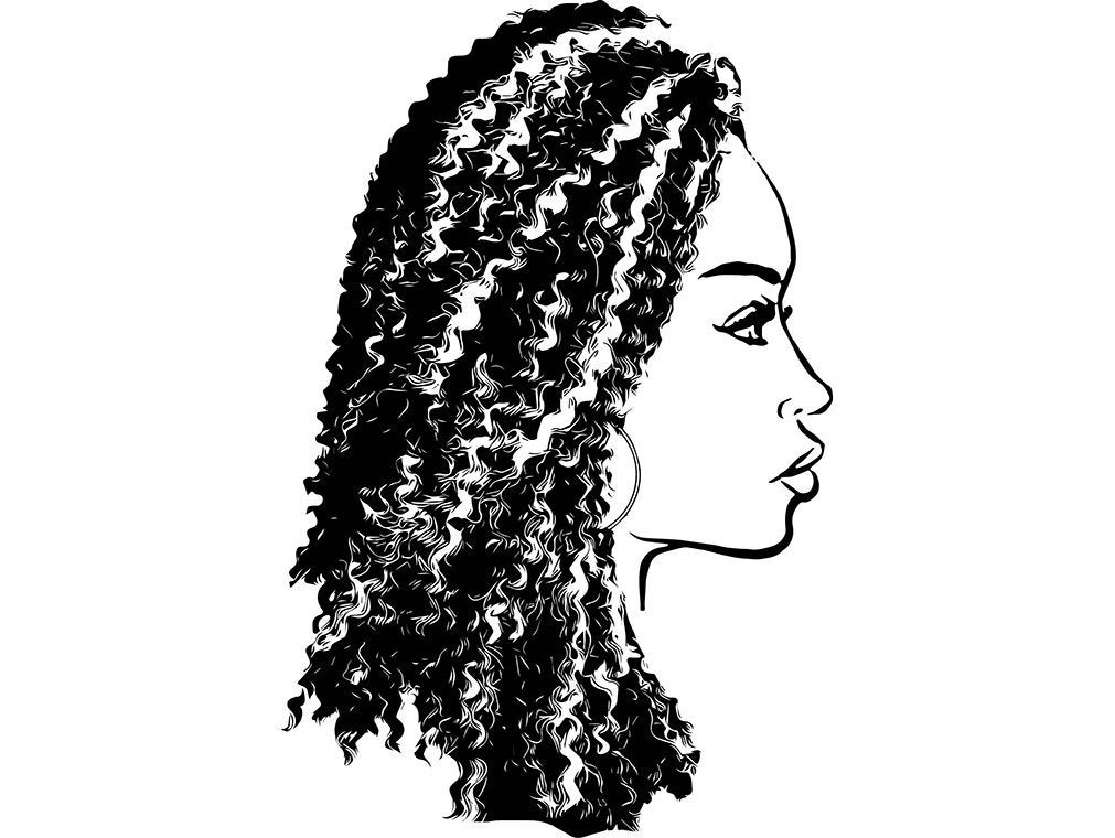 1011x760 Afro Womanhairstyle Nubian Princess Queen Afro Curly Hair Etsy