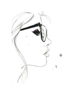 Girl With Glasses Drawing Easy