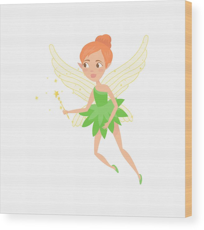 655x740 Cartoon Illustration Of Fairy Girl With Magic Wand In Hand Cute