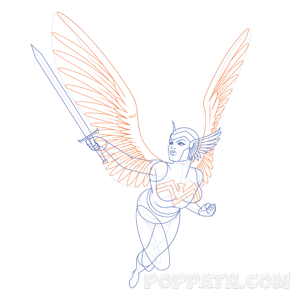 1000x1000 Collection Of Free Wings Drawing Superhero Download On Ui Ex