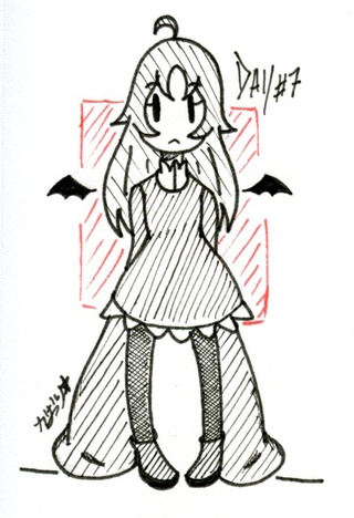 320x468 Day Of Inktober A Cute Little Demon Girl With Wings, Very