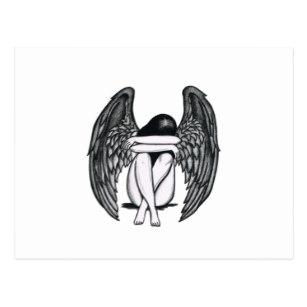307x307 Drawings Of Angel Wings Postcards Zazzle Ca
