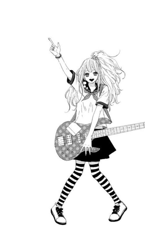 500x799 Drawing Music Anime Girl For Free Download