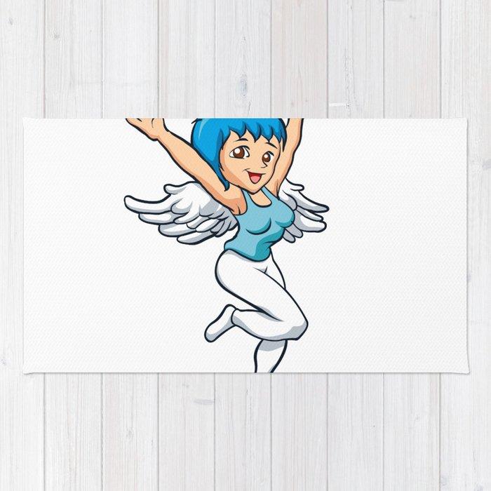700x700 Angel Girl With Wings Rug
