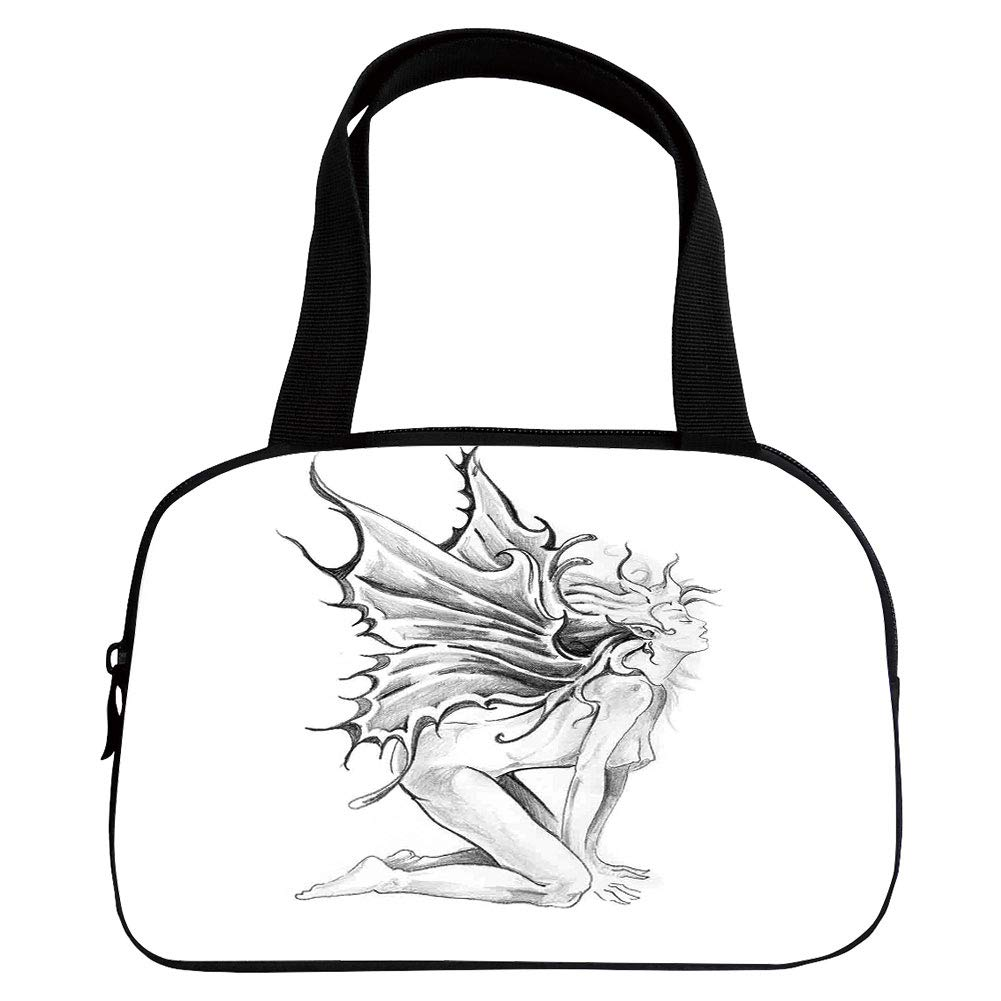 1001x1001 Multiple Picture Printing Small Handbag Pink, Tattoo