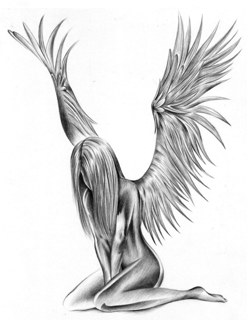 844x1091 Angel Wings Tattoos For Girls Classic Style Angel Wings
