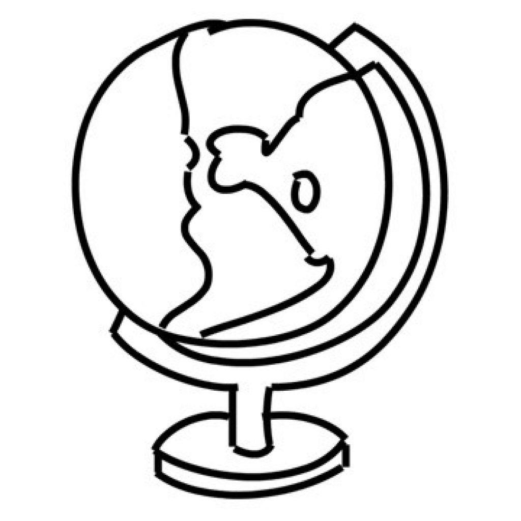 1024x1024 Map Line Drawing Globe Atlast World Illustration Animation