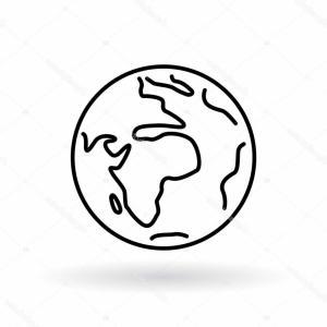 300x300 Simple Globe Icons Earth Flat Sign Soidergi