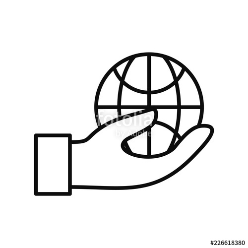 500x500 save globe energy icon outline illustration of save globe energy