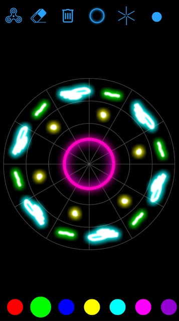 357x640 Glow Mandala Drawing And Spin For Android