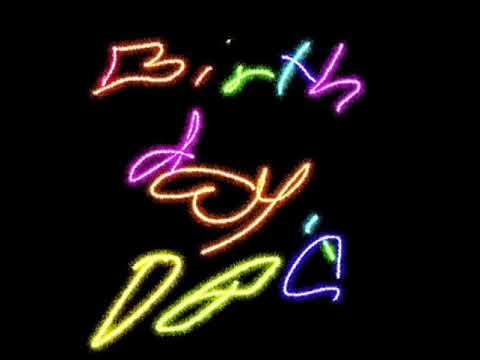 480x360 Happy Birthday Cake Glow Drawing
