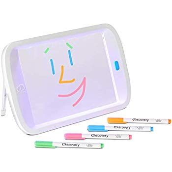 350x350 Discovery Kids Neon Led Glow Drawing Board