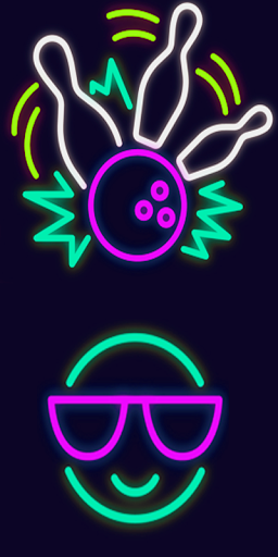 256x512 Neon Drawing
