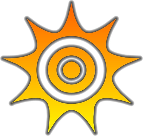 600x572 Sun Glow Free Vector In Open Office Drawing